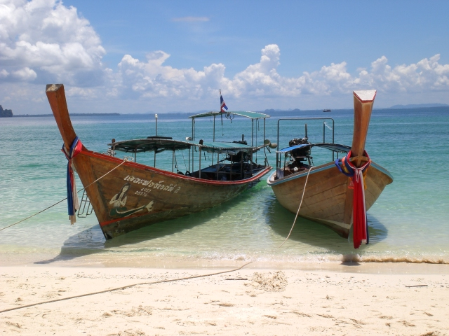 Iconic longtail boats of Thailand