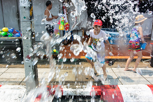 Waterfestival in Chiang Mai, Thailand