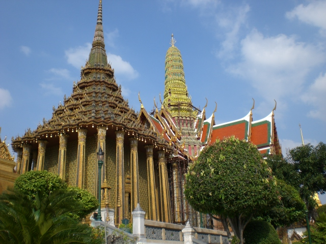 Wat Phra Kaew at Bangkok Grand Palace and temples