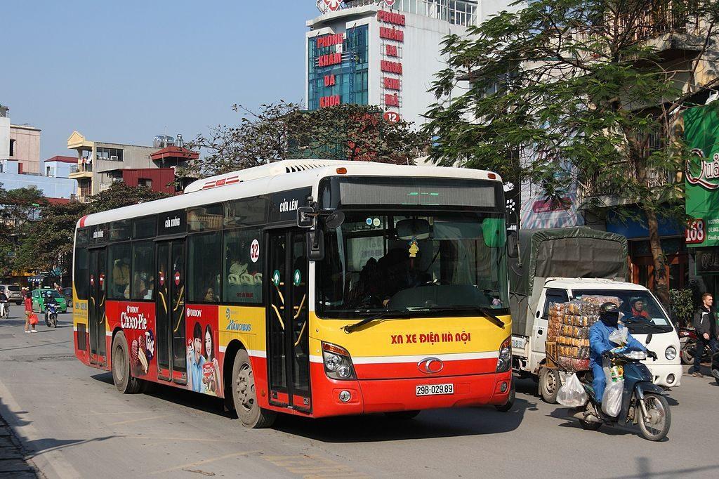 Public bus in Hanoi Vietnam