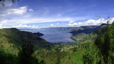 Lake Toba is on the Banana Pancake Trail