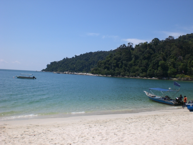 View of the beach on Pulau Pangkor, Malaysia