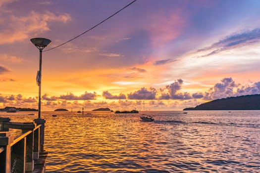 Sunset over TARP Kota Kinabalu