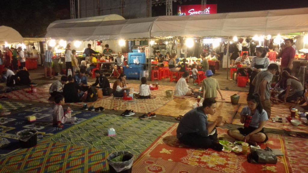 Foodcourt at the Phnom Penh Nightmarket