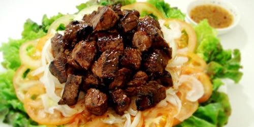 Beef lok lak Cambodia food