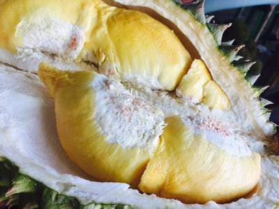 Durian is one of many must eat Cambodian foods