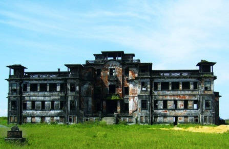 Crumbling casino at Bokor, Kampot