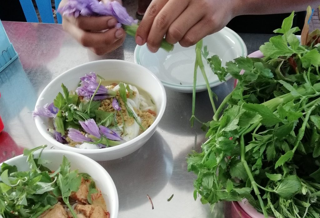 Num Banh Chok is one of many must eat Cambodian foods