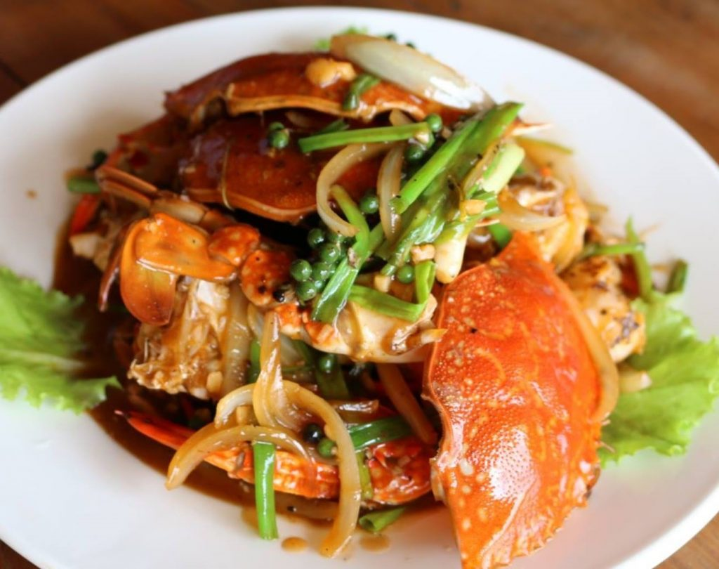 Crab with Kampot pepper is one of many must eat Cambodian foods