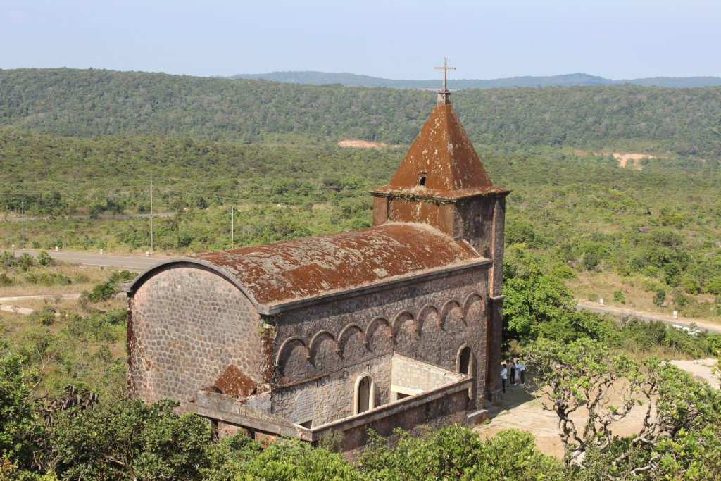 Old church on Bokor Hill