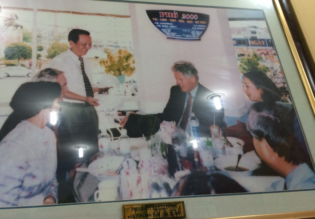 President Clinton eating Phò