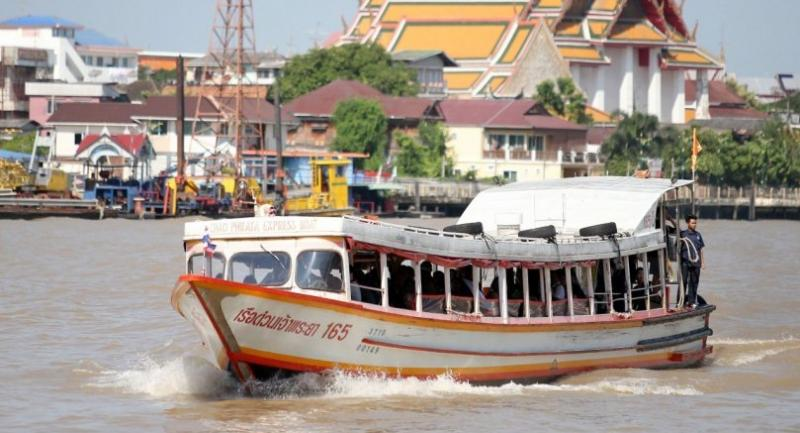 Chao Phraya Express boat - Orange flag line