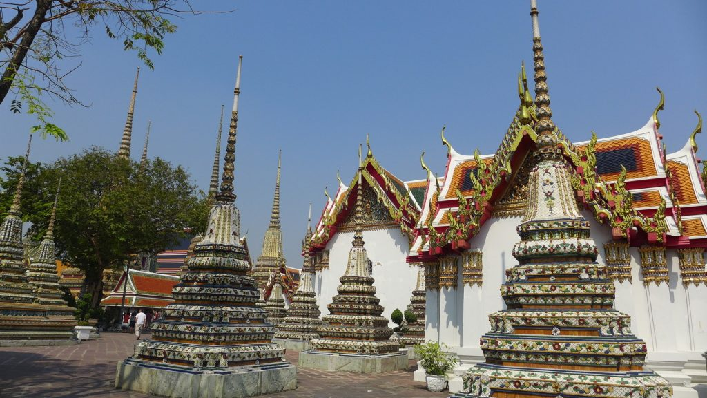 Wat Pho near the Bangkok Grand Palace