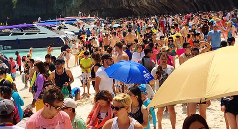 Crowd at Maya Bay - Thailand