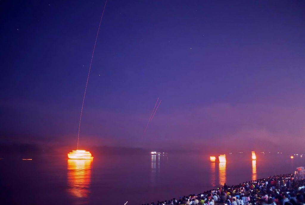 fireballs in the Nong Khai sky