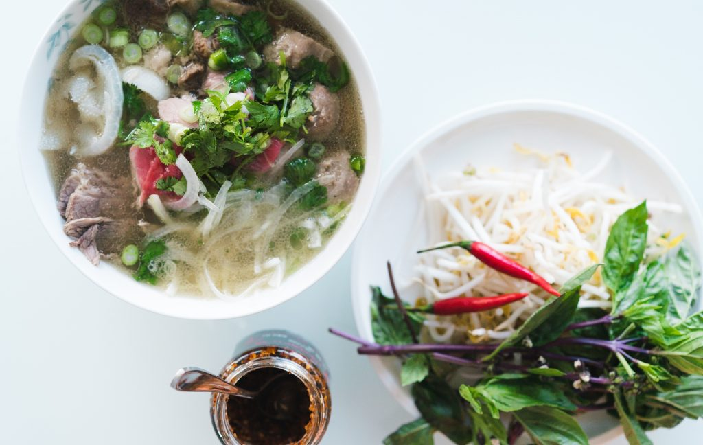 A hearty bowl of Phở, the national dish of Vietnam