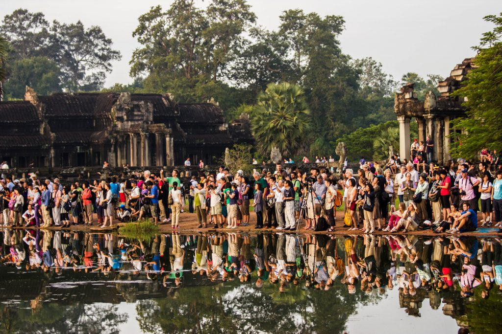 Crowds at Angkor Wat
