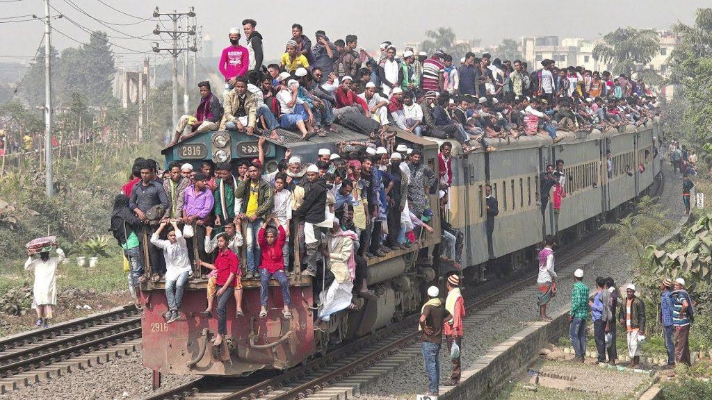 Crowded train in Malaysia