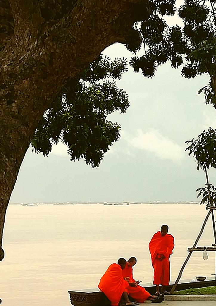 Buddhist monks in Phnom Penh