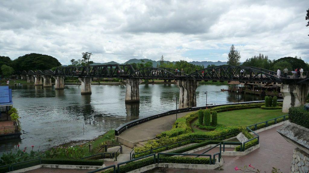 The bridge over the river Kwai in Kanchanaburi